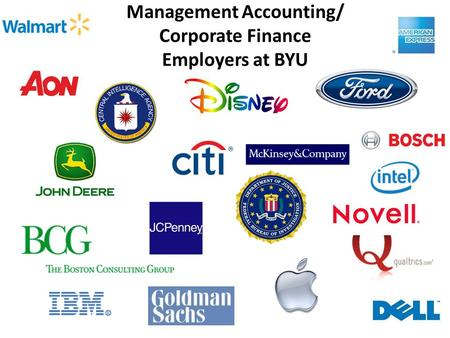 Management Accounting/ Corporate Finance Employers at BYU.