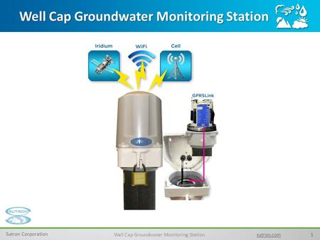 1 Sutron Corporation Well Cap Groundwater Monitoring Station sutron.com Well Cap Groundwater Monitoring Station.