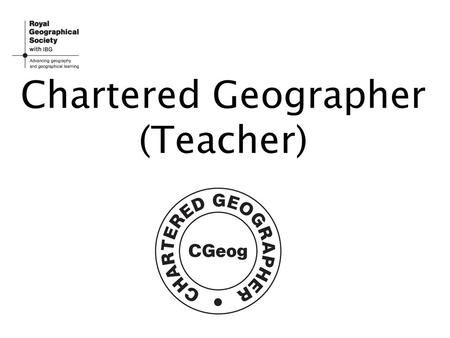 how to become a chartered geographer