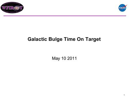 Galactic Bulge Time On Target May 10 2011 1. These charts examine the compatibility of a 500 day microlensing program with a 6 month SNe observing program.