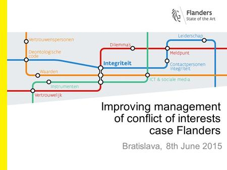 Improving management of conflict of interests case Flanders Bratislava, 8th June 2015.