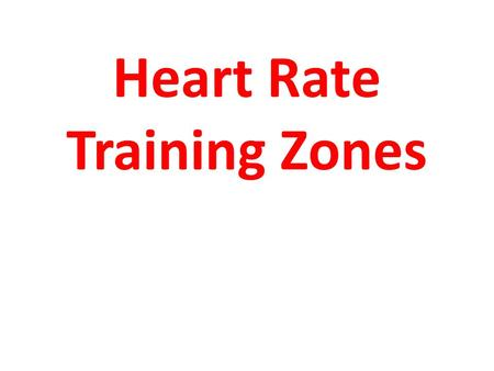 Heart Rate Training Zones. Healthy Heart Zone (Warm-up) 50 - 60% of maximum heart rate: The easiest zone and probably the best zone for people just starting.
