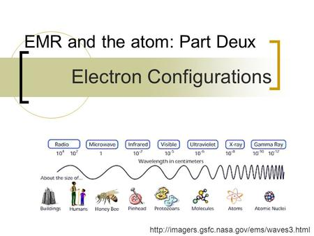 EMR and the atom: Part Deux  Electron Configurations.