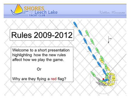 Rules 2009-2012 Welcome to a short presentation highlighting how the new rules affect how we play the game. Or Why are they flying a red flag?