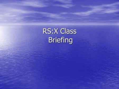 RS:X Class Briefing. 1. Practically no rule 42 ' A board shall be propelled only by the action of the wind on the sail, by the action of the water on.