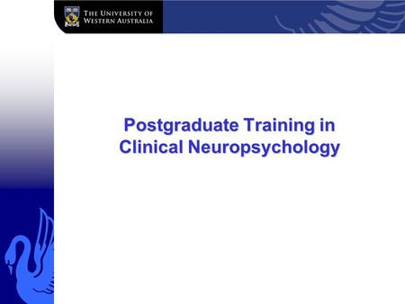 Postgraduate Training in Clinical Neuropsychology.