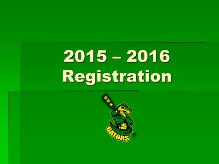 2015 – 2016 Registration. Credits   Students have an opportunity to earn 8 credits per high school year at GHS.  It takes…  At least 6 credits to.