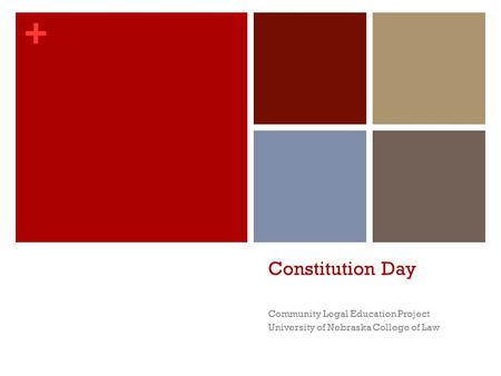 Constitution Day Community Legal Education Project