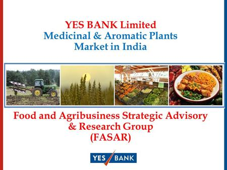 YES BANK Limited Medicinal & Aromatic Plants Market in India Food and Agribusiness Strategic Advisory & Research Group (FASAR)