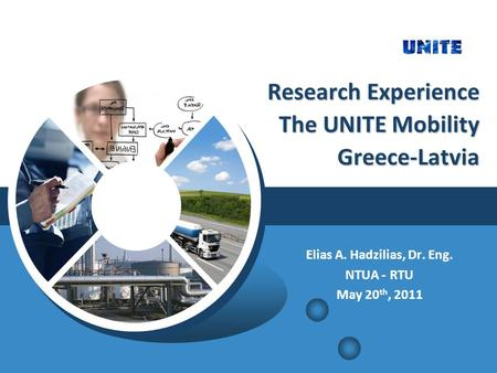 Research Experience The UNITE Mobility Greece-Latvia Research Experience The UNITE Mobility Greece-Latvia Elias A. Hadzilias, Dr. Eng. NTUA - RTU May 20.