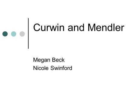 Curwin and Mendler Megan Beck Nicole Swinford. Richard Curwin Born May 25, 1944 Received his B.A in English and Doctorate of Education at the University.