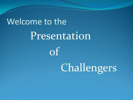 Welcome to the Presentation of Challengers. Group Members Nazmul Hasan (ID:102-25-164) Instructor, Computer Department Bangladesh Skill Development Institute.