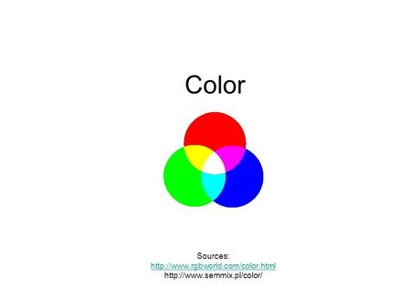Color Sources:
