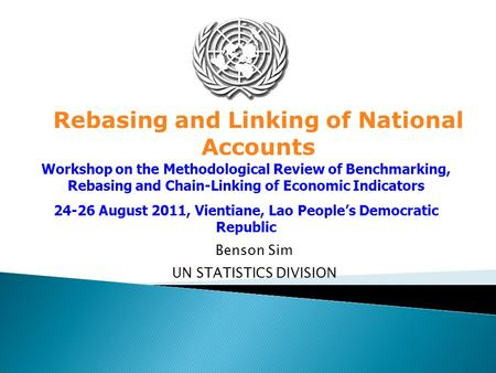 Rebasing and Linking of National Accounts