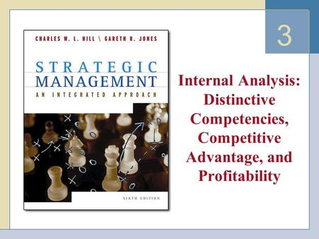 3 Internal Analysis: Distinctive Competencies, Competitive Advantage, and Profitability.
