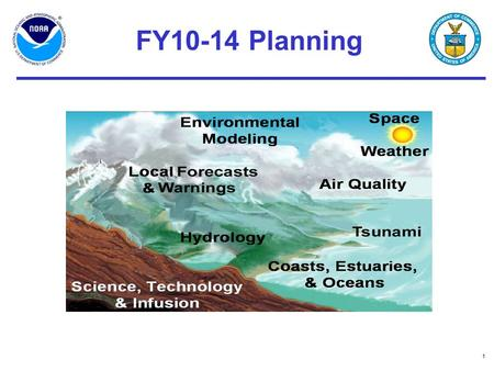 1 FY10-14 Planning. 2 Vision for 2015 NOAA is closer to its customers and better able to respond to severe events. NOAA information is routinely incorporated.