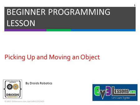 Picking Up and Moving an Object