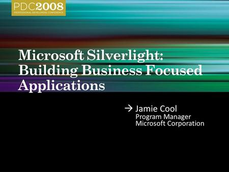  Jamie Cool Program Manager Microsoft Corporation.