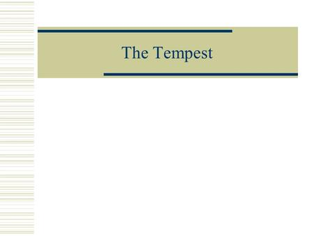 tempest essays on power