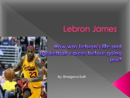 How was Lebron's life and basketball career before going pro?