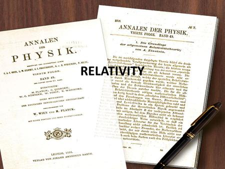 RELATIVITY. Principle of Relativity Postulates of Relativity Special Theory of Relativity General Theory of Relativity.