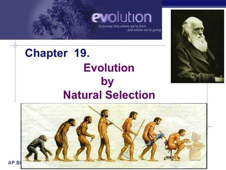 AP Biology 2005-2006 Chapter 19. Evolution by Natural Selection.