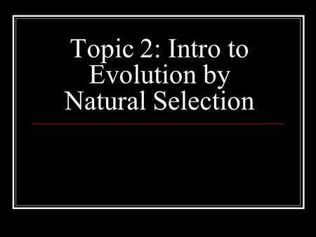 How Do The Terms Evolution And Natural Selection Differ