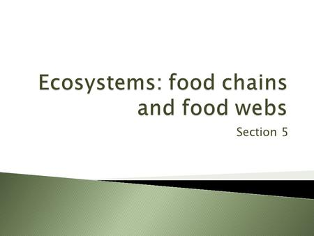 Ecosystems: food chains and food webs