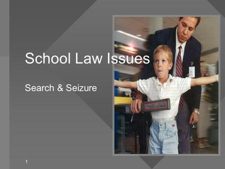 """search and seizure in public schools Getty images/michael mcclosky there are many search and seizure cases that shaped the process concerning schools the supreme court applied the """"special needs"""" exception to a public school."""