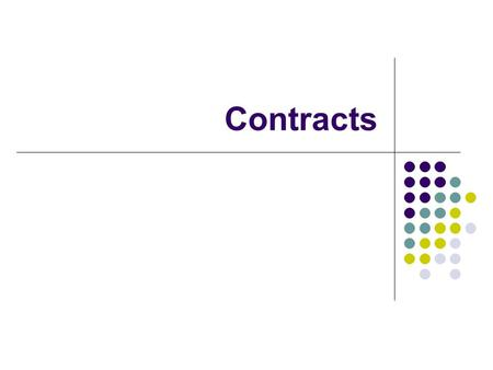 Contracts. What is a Contract? An agreement that is enforceable by law Must have an offer and acceptance on mutually satisfactory terms Intent is more.