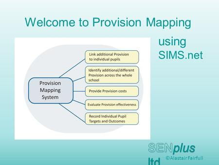 Welcome to Provision Mapping ©Alastair Fairfull using SIMS.net.