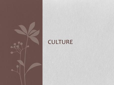 CULTURE. Definition the quality in a person or society that arises from a concern for what is regarded as excellent in arts, letters, manners, scholarly.
