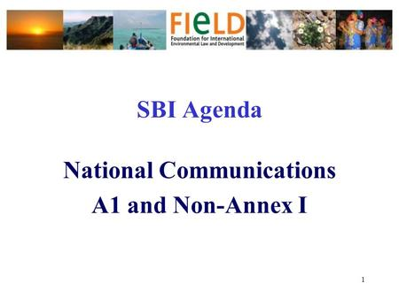 1 SBI Agenda National Communications A1 and Non-Annex I.