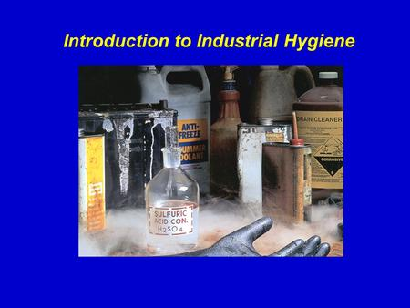 Introduction to Industrial Hygiene. History of Industrial Hygiene 370 BC – Hippocrates identifies lead poisoning in miners and metallurgists. 50 AD –
