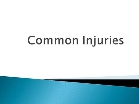 1. Acute/traumatic 2. Repetitive use/overuse injuries.
