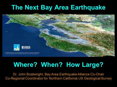 The Next Bay Area Earthquake