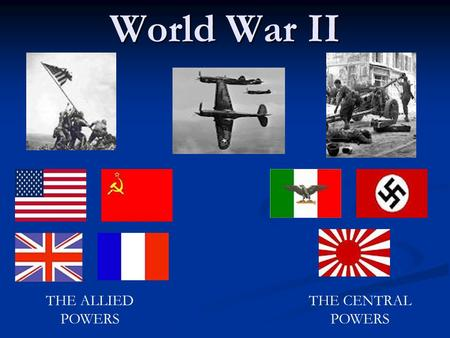 Chapter 13 – World War II Erupts - ppt download