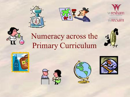 Numeracy across the Primary Curriculum. PE  Page=homepage.