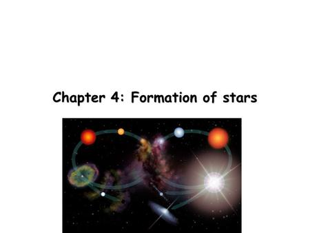 Chapter 4: Formation of stars. Insterstellar dust and gas Viewing a galaxy edge-on, you see a dark lane where starlight is being absorbed by dust. An.