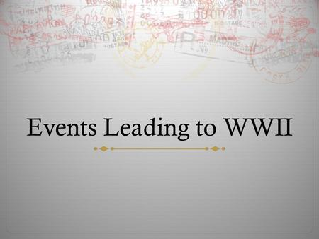 Events Leading to WWII. Fascist Empires Grow  Since the League failed to stop Japan – other countries tried to build an empire too!  Mussolini attacked.