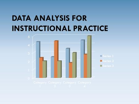 DATA ANALYSIS FOR INSTRUCTIONAL PRACTICE. Learning Targets for Session  Identify Strategies to monitor individual student progress  Identify Strategies.