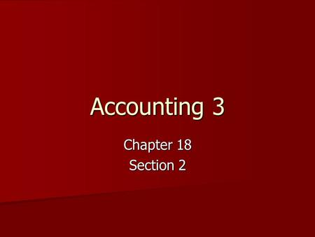 Accounting 3 Chapter 18 Section 2. Cash Payments Journal This is a journal used only to record cash payment transactions. (If it is not a check, is does.