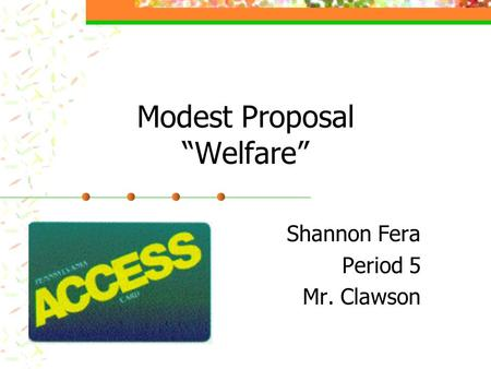 A welfare state without borders: A modest proposal