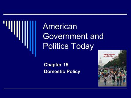 American Government and Politics Today Chapter 15 Domestic Policy.