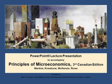 Principles of Microeconomics, 3rd Canadian Edition