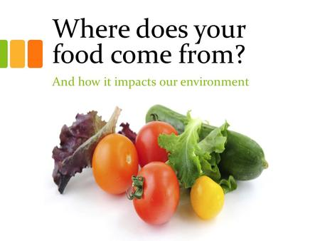 Where does your food come from? And how it impacts our environment.