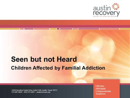 Children Affected by Familial Addiction