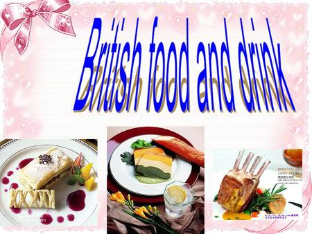 British food and drink.