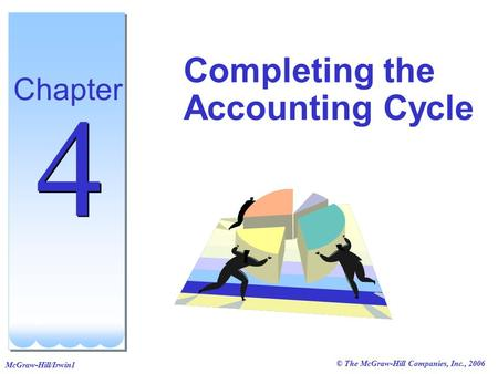 © The McGraw-Hill Companies, Inc., 2006 McGraw-Hill/Irwin1 Completing the Accounting Cycle Chapter 4 4.
