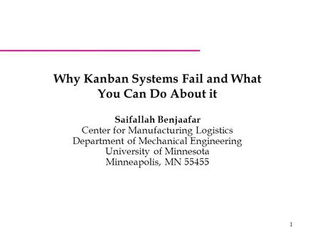 Why Kanban Systems Fail and What You Can Do About it